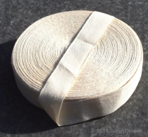 25mm Plain Weave Unbleached cotton tape
